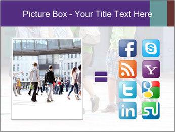 Teenagers Walking On Street PowerPoint Template - Slide 21