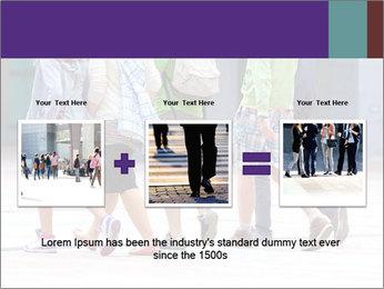 Teenagers Walking On Street PowerPoint Template - Slide 22