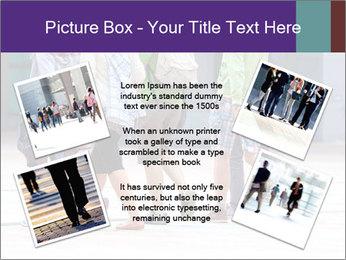 Teenagers Walking On Street PowerPoint Template - Slide 24