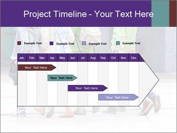Teenagers Walking On Street PowerPoint Template - Slide 25