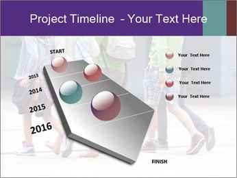 Teenagers Walking On Street PowerPoint Template - Slide 26
