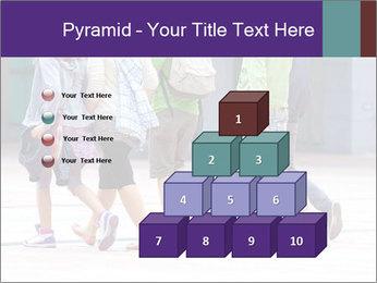 Teenagers Walking On Street PowerPoint Template - Slide 31