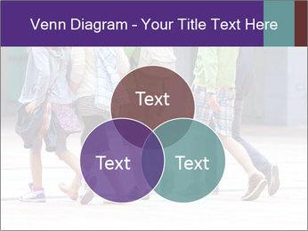 Teenagers Walking On Street PowerPoint Template - Slide 33