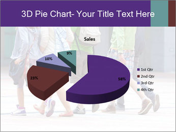 Teenagers Walking On Street PowerPoint Template - Slide 35