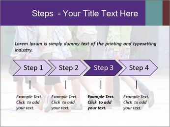 Teenagers Walking On Street PowerPoint Template - Slide 4