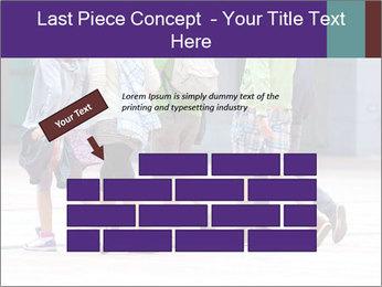 Teenagers Walking On Street PowerPoint Template - Slide 46