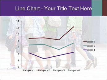 Teenagers Walking On Street PowerPoint Template - Slide 54
