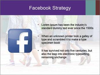 Teenagers Walking On Street PowerPoint Template - Slide 6