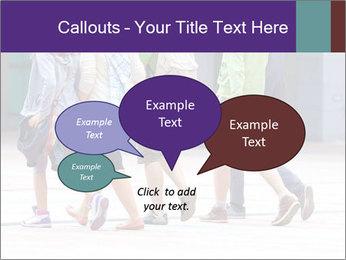 Teenagers Walking On Street PowerPoint Template - Slide 73