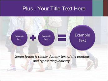 Teenagers Walking On Street PowerPoint Template - Slide 75