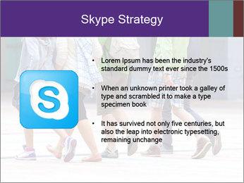 Teenagers Walking On Street PowerPoint Template - Slide 8