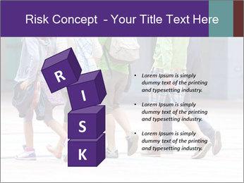Teenagers Walking On Street PowerPoint Template - Slide 81