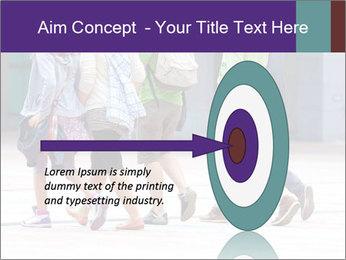Teenagers Walking On Street PowerPoint Template - Slide 83