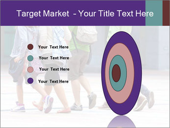 Teenagers Walking On Street PowerPoint Template - Slide 84