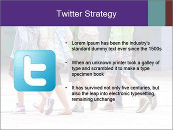 Teenagers Walking On Street PowerPoint Template - Slide 9