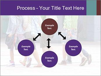 Teenagers Walking On Street PowerPoint Template - Slide 91