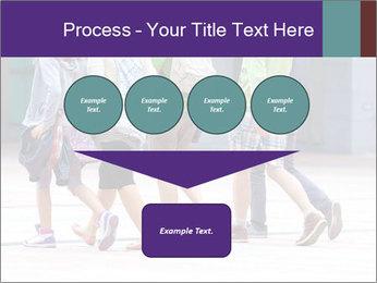 Teenagers Walking On Street PowerPoint Template - Slide 93