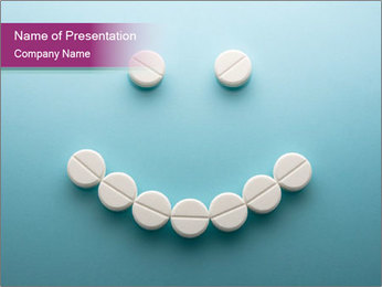 Smile Face Made Of Pills PowerPoint Template