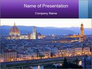 Rooftops Of Italian City PowerPoint Template