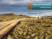 Road At Seaside PowerPoint Template