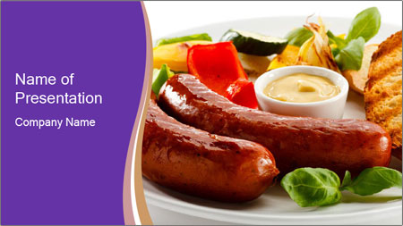 Roasted Sausages PowerPoint Template