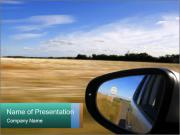 Drive In Wheet Field PowerPoint Template