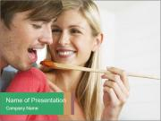 Couple Cooking Together PowerPoint Template
