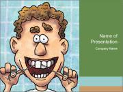 Dental Cartoon PowerPoint Template