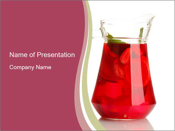 Red Punch PowerPoint Template - Slide 1