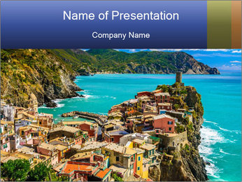 Scenic Rock View PowerPoint Template - Slide 1