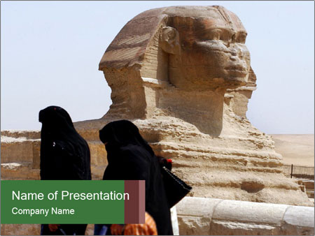 Beautiful Sphinx PowerPoint Template