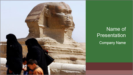 Beautiful Sphinx PowerPoint Template