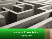 Cement Labyringth PowerPoint Template