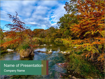Babbling Brook PowerPoint Template - Slide 1