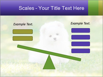 White Little Puppy PowerPoint Template - Slide 89