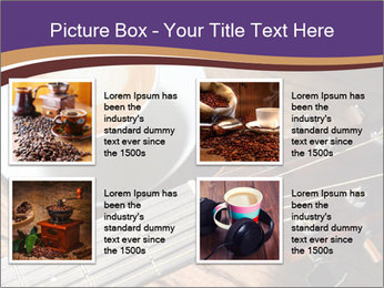 Coffee and fingerboard of the guitar. PowerPoint Template - Slide 14