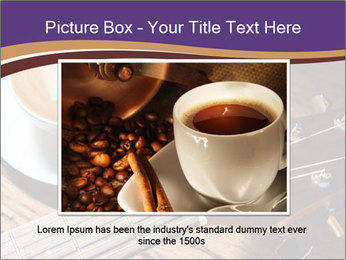 Coffee and fingerboard of the guitar. PowerPoint Template - Slide 16