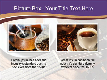 Coffee and fingerboard of the guitar. PowerPoint Template - Slide 18