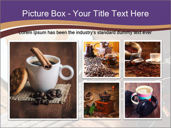 Coffee and fingerboard of the guitar. PowerPoint Template - Slide 19