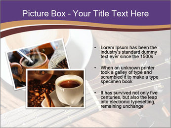 Coffee and fingerboard of the guitar. PowerPoint Template - Slide 20