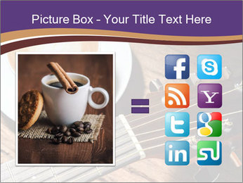 Coffee and fingerboard of the guitar. PowerPoint Template - Slide 21