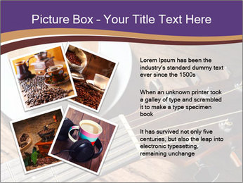 Coffee and fingerboard of the guitar. PowerPoint Template - Slide 23