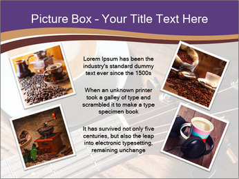 Coffee and fingerboard of the guitar. PowerPoint Template - Slide 24