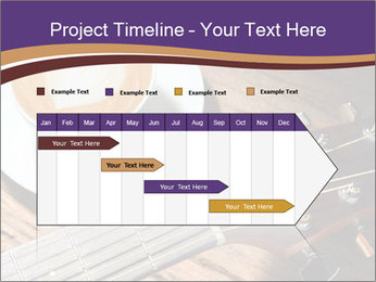Coffee and fingerboard of the guitar. PowerPoint Template - Slide 25