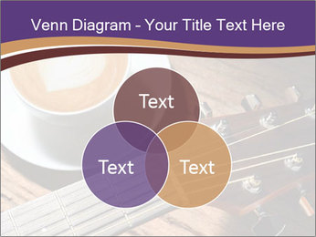 Coffee and fingerboard of the guitar. PowerPoint Template - Slide 33
