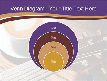 Coffee and fingerboard of the guitar. PowerPoint Template - Slide 34