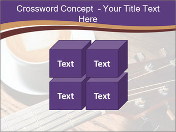 Coffee and fingerboard of the guitar. PowerPoint Template - Slide 39