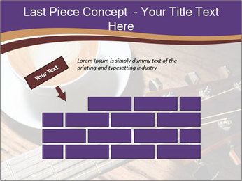 Coffee and fingerboard of the guitar. PowerPoint Template - Slide 46
