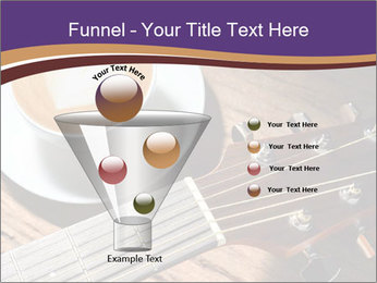 Coffee and fingerboard of the guitar. PowerPoint Template - Slide 63