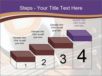 Coffee and fingerboard of the guitar. PowerPoint Template - Slide 64